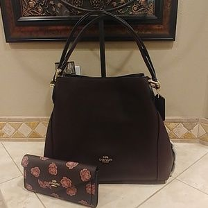 2pc COACH SET: Edie 57125 & Wallet 32437 NEW